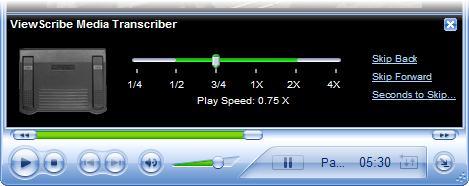 ViewScribe integrates with Windows Media Player